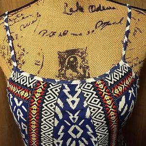 Rue21 Tops - Adorable Royal Blue Aztec Peplum Tank Tribal